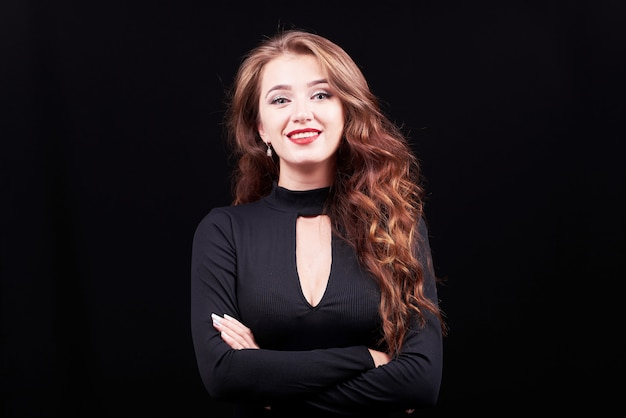 Young elegant woman with bright makeup