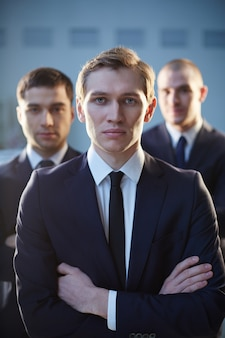 Young executive in suit