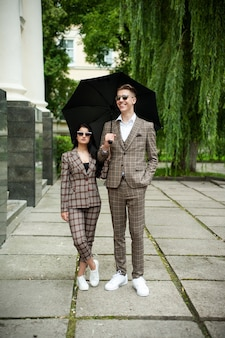 Young fashion couple
