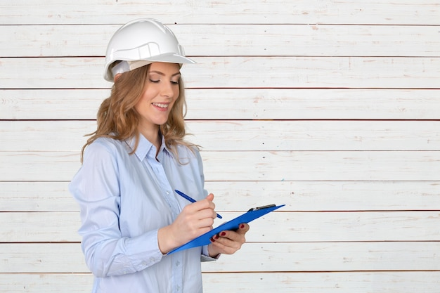 Young female construction specialist