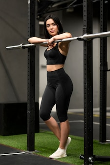 Young female at gym