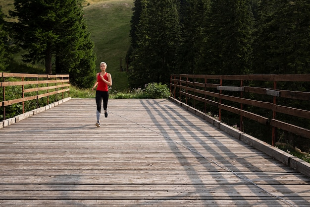 Young female runner outdoors