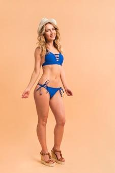 Young female in swimwear