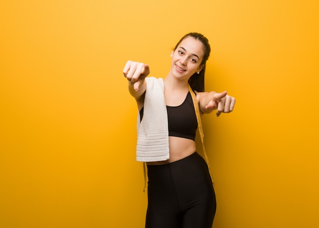 Young fitness girl cheerful and smiling