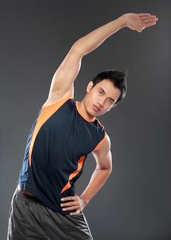 Молодой человек фитнес