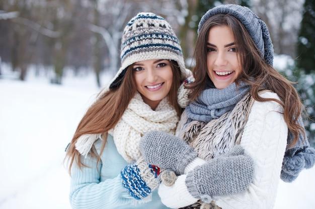 冬の若い友達