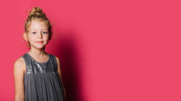 어린 소녀와 copyspace