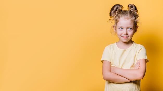 若い女の子とcopyspace