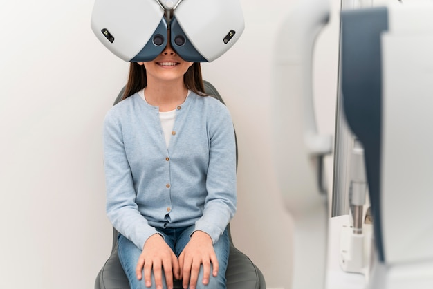 Young girl at eyes consult