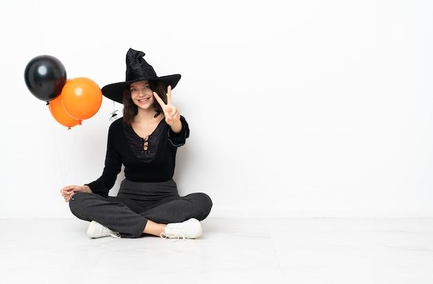 ハロウィーンの衣装を着た少女