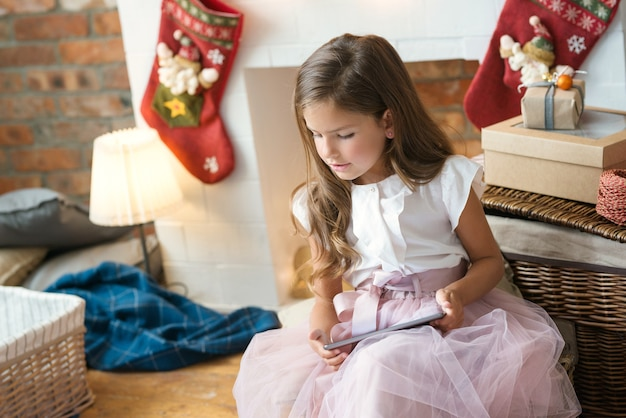 Young girl with a present
