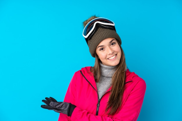 Young girl with snow glasses