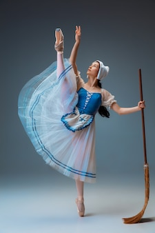 Young and graceful ballet dancer as fairytail character.