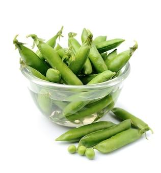 若いグリーンピース。緑色野菜。