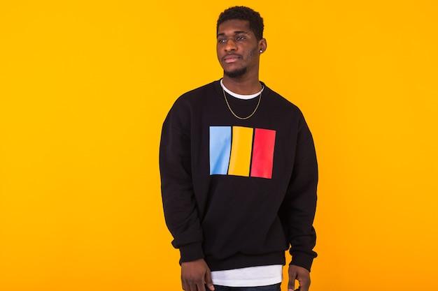 Young handsome african man wearing sweatshirt