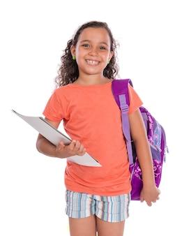 Молодая счастливая студентка с улыбкой