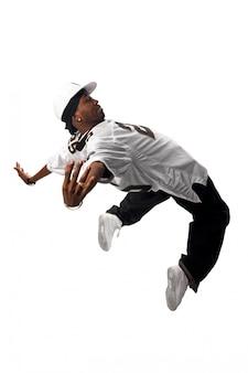 화이트에 젊은 힙합 댄서