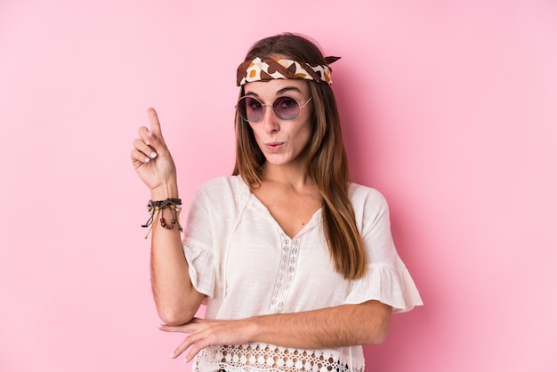 Young hipster woman having some great idea