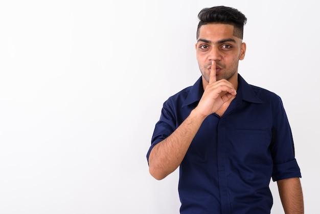 白の若いインド人実業家
