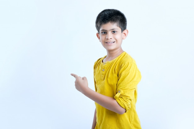 Young indian child multi expressions