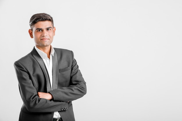 Young indian man in suit