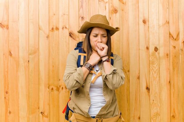 Young latin explorer woman