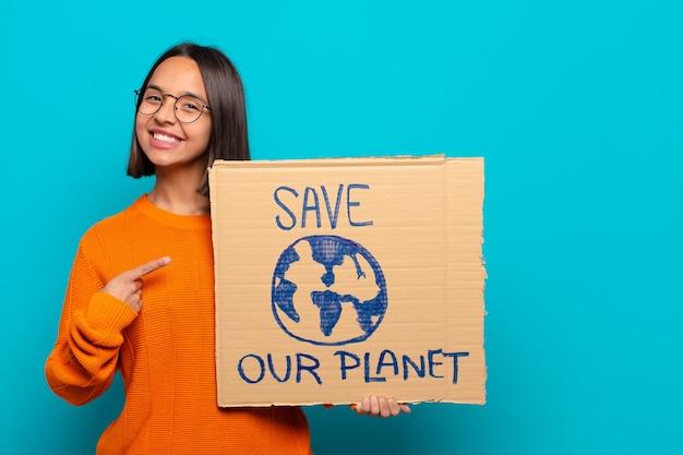 Молодая латинская женщина. спасти мировую концепцию