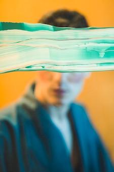 Young man abstract photo shoot