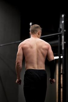 Young man at gym