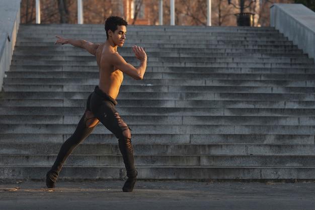 Young man performing ballet
