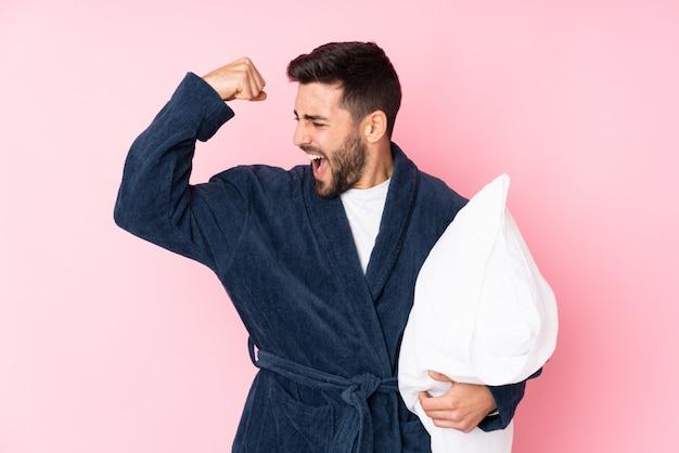 Young man wearing pajama