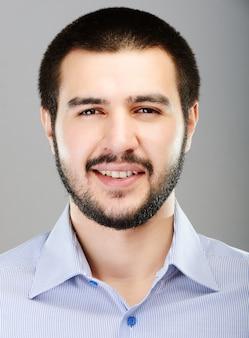 若い、中東、若い、魅力的な、男性、モデル、ポーズ