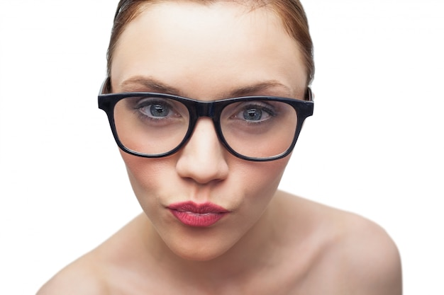 Young model wearing classy glasses
