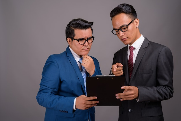 Young multi-ethnic businessman and young indian businessman