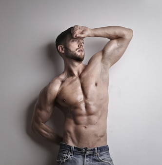 Young muscled man