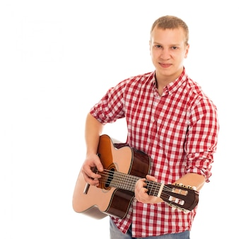 Young musician with a guitar