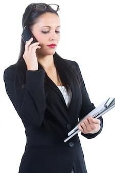 «молодой офис женщина говорит телефон»