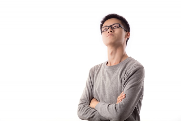Young person pose fashion man