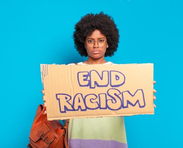 젊은 예쁜 아프리카 여성, 평등 개념