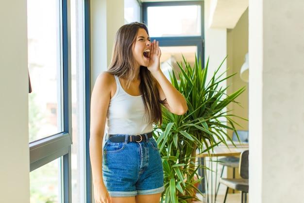 Young pretty woman having fun indoors having fun indoors