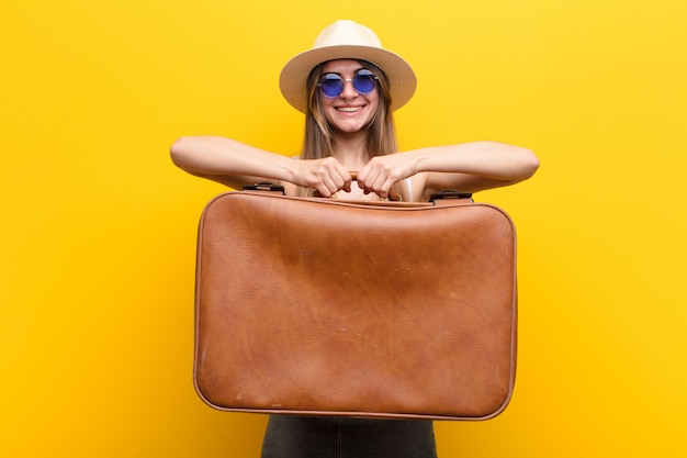 Young pretty woman travel or tourism concept