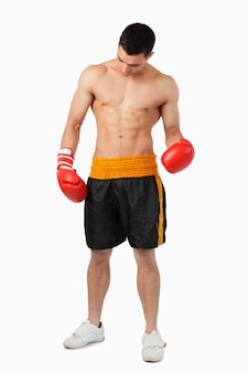 Young ripped boxer