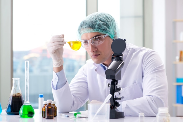 Young scientist working in the lab