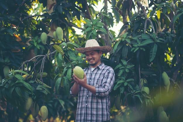 Young smart farmer