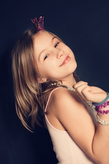 Young smiling fashion model girl