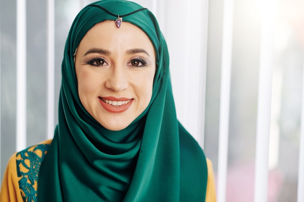 Young smiling muslim woman