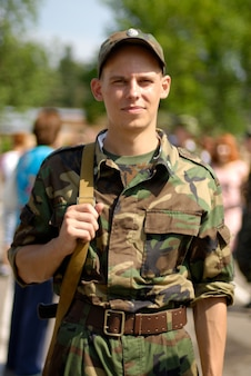Young soldier Free Photo