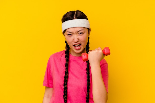Young sport chinese woman