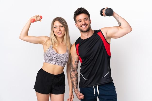 Молодая спортивная пара