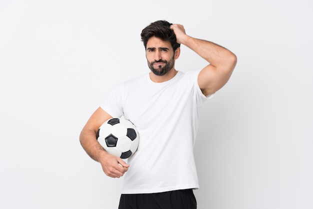 Young sport soccer man